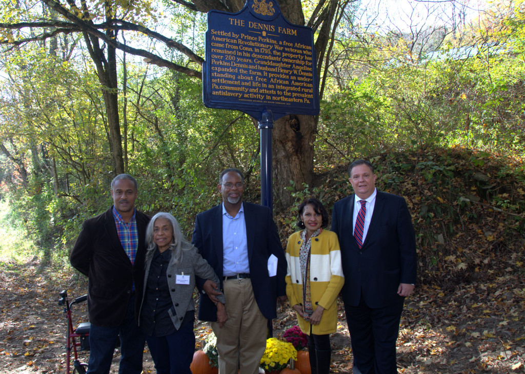 Oct 7, 2015 The Dennis Farm Symposium, Marker unveiling